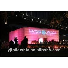inflatable large wedding marquee tent with LED light for sale