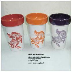 Nice coffee mug with goldfish design for BSM1530