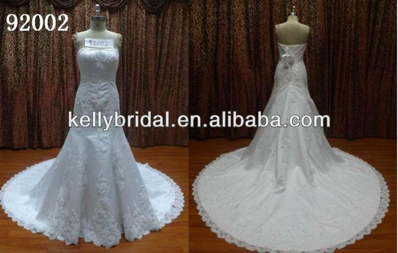 فريد 92002 زين الدانتيل ثوب الزفاف ثوب 15 العظامومن ومنصات