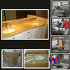 "Bathroom Vanity Sink Base Granite Top 60"" double bowl"