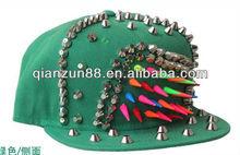 green youth wool snapback cap