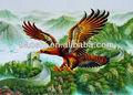 Cartaz 3d/3d imagem da águia