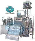 Vacuum homogenizing and emulsifying cosmetic cream making machine