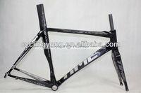 Time VIP matt black color road racing bicycle frame 2012 rxrs ulteam t100 road bike frame