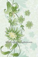 300x450 floral desdign motifs,green/keramik/kitche wall tile