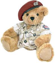 Todos os nossos brinquedos macios cáqui exército boina Teddy Bear boina vermelha, Soldado ursinho de brinquedo macio