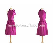 2013 Custom-made Real Picture High Collar Pink Taffeta Cocktail Dress