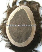 100%human Indian remy hair men's toupee