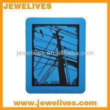 New design Best price Dark Red Silicone case case for ipad 3