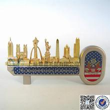 World Landmarks Metal Decorations Key Gifts