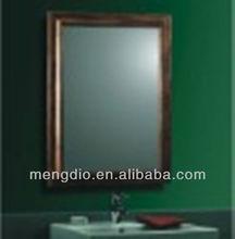 decorative wood framed bathroom vanity mirror with lighten
