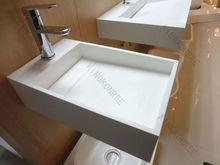Solid surface small wall hung hand washing basin/sink