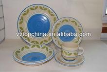 stoneware handpainted 16pc dinnerware set