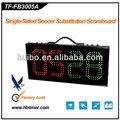 Futebol/futebol placa de substituição