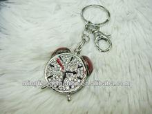 Fashion metal clock keychains