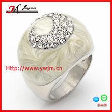 R4450 fashion cz stone rings enamel palladium plated
