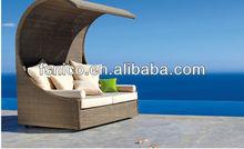 Outdoor Rattan Wicker Sun Lounger 2012 new