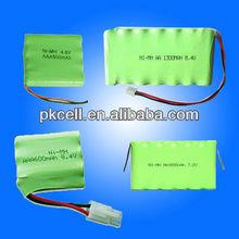 Shenzhen manufacturer 4.8V 2000 mAh NiMH Battery Packs and nimh battery