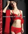 Red hot sexy sutiã e calcinha de novo design/senhora sexy sutiã e calcinha