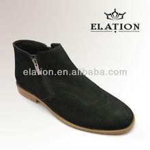 gentlemen zipper suede leather boots
