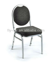 classic aluminum tube fabric soft hotel cafe chairs for sale/ used hotel chairs made in China