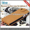Restro business style for iphone 5S case, leather case for iphone 5