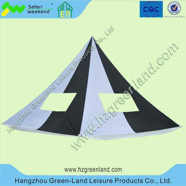 Dia.10m*H.5m aluminum single peak star tent,star shade,star shelter