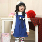 2014 Spring new woolen style vest warm spring girls' party frocks design dress