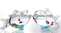 high quality glass material decorative aquarium glass fish