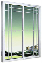 PVC or alumnium modern sliding door grill design