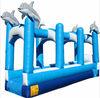 11m Inflatable Dophin Single Lane Slip and Slide