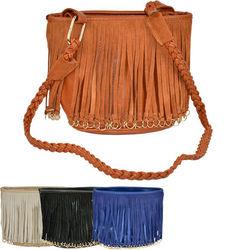 Ladies handbag small bag woven Shoulder Strap leather bag tassel Shoulder side bags for womens