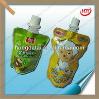 aluminum frozen soft drink pouch with spout liquid pouch