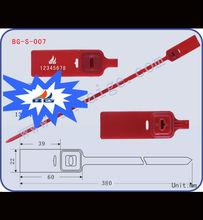 plastic seal BG-S-007, plastic number locks