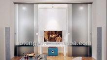 Elegant aluminum sliding glass door system