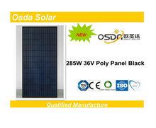 ODA285-36-P low price poly solar panel black 285w