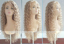 Fashion lady human hair afro wave 100% European remy mono full lace wig