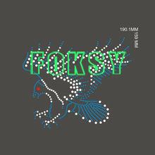 wash test t-shirt printed motif bling eagle design