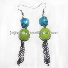 earrings with skull beads
