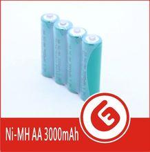 Green Color 3000mAh AA nimh 1.2v battery wholsale OEM export import wholesale