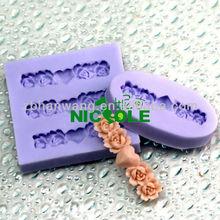 Nicole flower anthemy holiday gum paste mold cake icing tools zibo silicone fondant cake decorating tools F0089