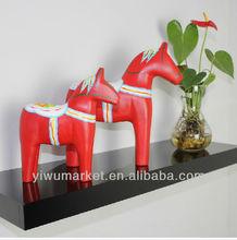 Promotion yiwu market creative cute wooden horse decoration