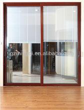 interior shutters sliding glass doors ( internal roll shutter / blinds)