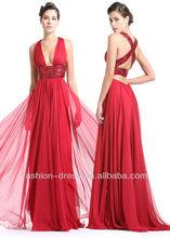 Beautiful Sexy Red Halter Evening Dress Fashion 2012
