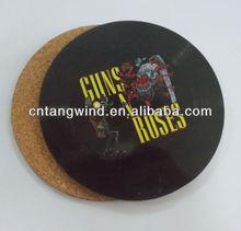 souvenir wooden coaster/MDF cork coaster/cork coaster