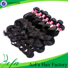 whole sale dark brown hair weaving, 100% indian remy human hair