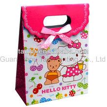 Wholesale custom paper gift bags tab top tote box bags