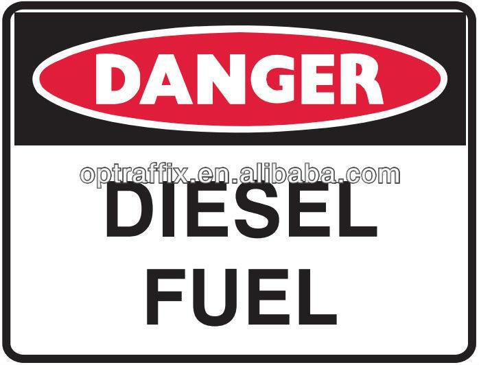 Pp las señales de seguridad de peligro cartel de chapa Diesel combustible