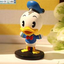plastic animal cartoon duck toys for decoration