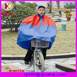 Hot-sell 0.20mm 100%PVC bicycle rain poncho